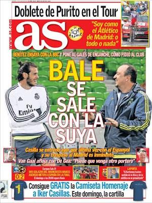 Portada As: Bale y Benítez