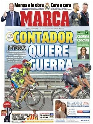 Portada Marca: Contador quiere guerra
