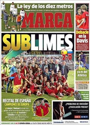 Portada Marca: España campeona del sub 19