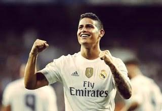 James festeja uno de sus goles gol chilena betis real madrid