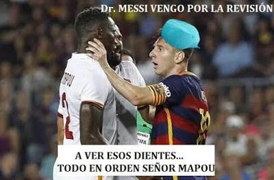 Los mejores memes del Barcelona-Roma. Trofeo Gamper messi mapou