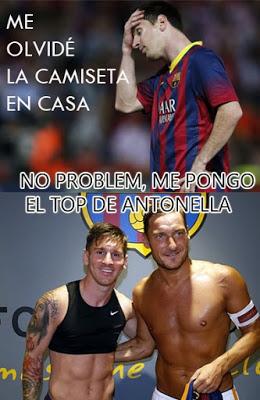 Los mejores memes del Barcelona-Roma. Trofeo Gamper messi top antonella totti