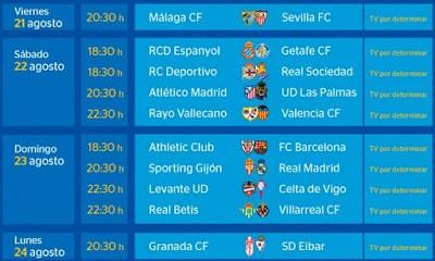 Partidos Jornada 1. Liga Española BBVA 2015