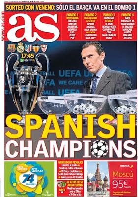 Portada AS: Spanish Champions