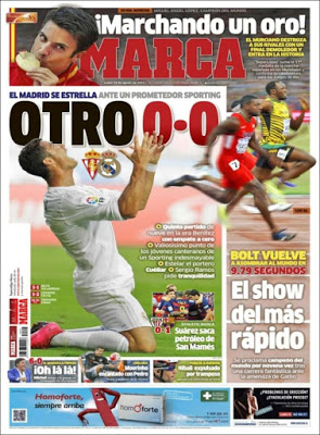 Portada Marca :otro 0-0 era benitez sporting real madrird