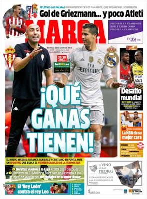 Portada Marca: Sporting-Real Madrid