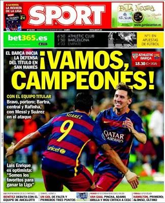 Portada Sport: Vamos Campeones