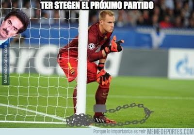 Los mejores memes del Roma-Barcelona: Champions 2015 ter stegen gol roma