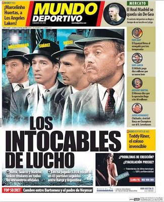 Portada Mundo Deportivo: los intocables de lucho