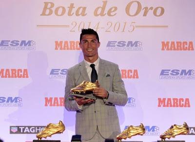 Cristiano Ronaldo Bota de Oro 2015