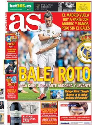 Portada As: Bale, roto