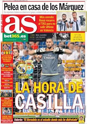 Portada AS: La hora de Casilla