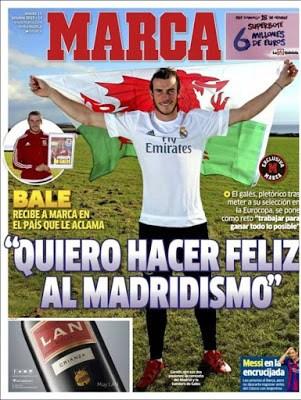 Portada Marca: Gareth Bale