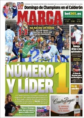 Portada Marca: Madrid líder navas keylor