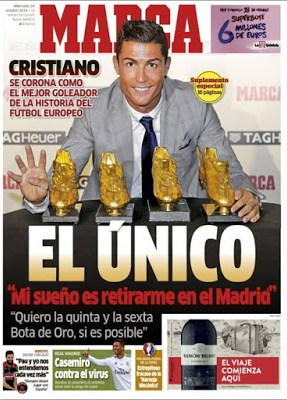 Portada Marca: Cristiano Ronaldo Bota de Oro 2015