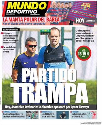 Portada Mundo Deportivo: Barça-Eibar