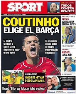 Portada Sport: Coutinho