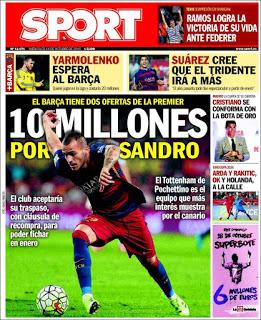 Portada Sport: Sandro