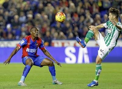 Levante 0-Betis 1. Jornada 13 Liga Española