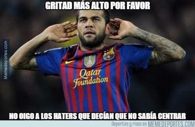 Los mejores memes del Barcelona-Real Sociedad. Jornada 13 alves