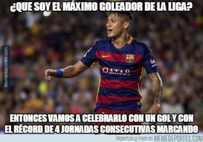Los mejores memes del Barcelona-Real Sociedad. Jornada 13 neymar