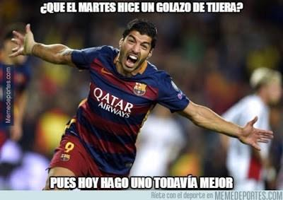 Los mejores memes del Barcelona-Real Sociedad. Jornada 13 suarez