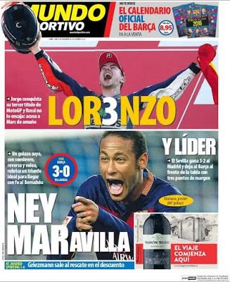 Portada Mundo Deportivo: Neymaravilla
