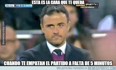Los mejores memes del Barcelona-Depor. Jornada 15 luis enrique
