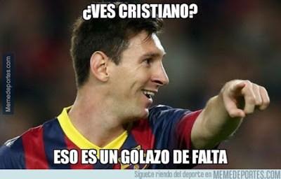 Los mejores memes del Barcelona-Depor. Jornada 15 golazo messi falta