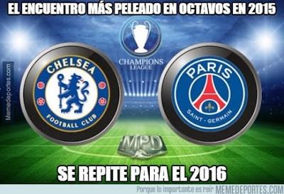 Los mejores memes del sorteo de octavos de la Champions 2015-2016 chelsea psg