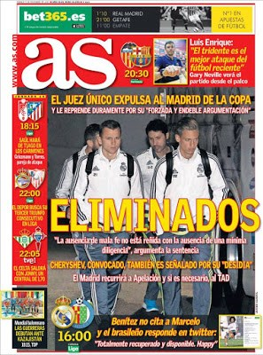 Portada AS: Real Madrid eliminado
