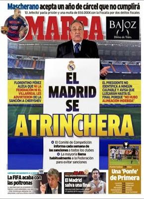 Portada Marca: el Madrid se atrinchera