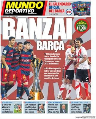 Portada Mundo Deportivo: Banzai Barça