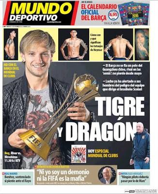 Portada Mundo Deportivo: Tigre y Dragón