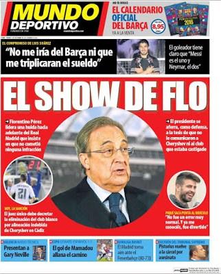 Portada Mundo Deportivo: el show de Flo