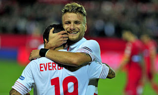 Sevilla 2-Espanyol 0. Jornada 17 Liga Española