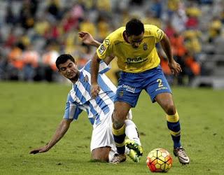 Las Palmas 1-Málaga 1. Jornada 19 Liga Española