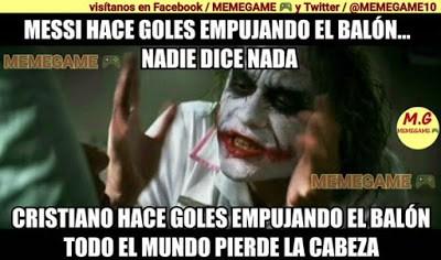 Los mejores memes del Barcelona-Granada. Jornada 19 gol messi empujando