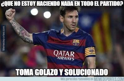 Los mejores memes del Málaga-Barcelona. Jornada 21 messi gol tijera