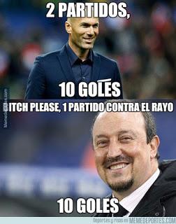 Los mejores memes del Real Madrid-Sporting: Jornada 20 zidane benitez