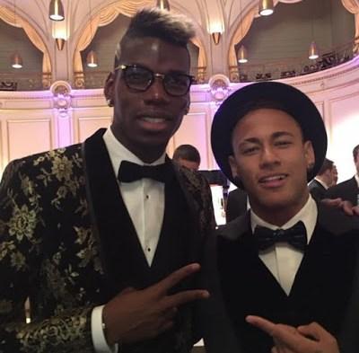 La gala del Balón de Oro en Instagram pogba y neymar