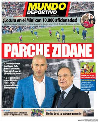 Portada Mundo Deportivo: Parche Zidane
