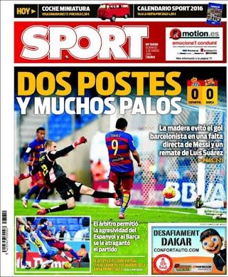 Portada Sport: Dos postes y muchos palos