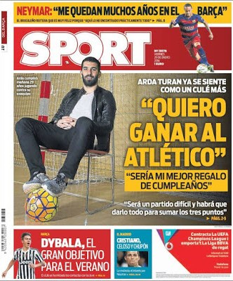 Portada Sport: Arda Turan