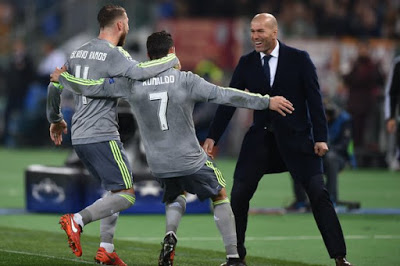 Roma 0-Real Madrid 2. Octavos Champions (ida)