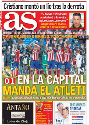 Portada AS: en la capital manda el Atleti