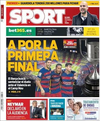 Portada Sport: a por la primera final