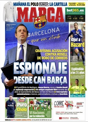 Portada Marca: espionaje desde Can Barça