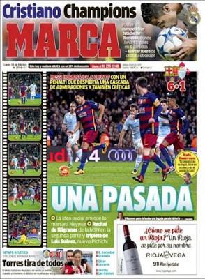 Portada Marca: una pasada penal messi cruyff