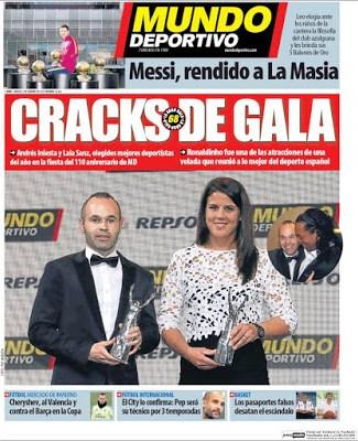 Portada Mundo Deportivo: Cracks de gala